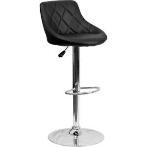 Flash Furniture Black Contemporary Barstool, Black - CH-82028A-BK-GG