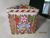 Large Gingerbread Candy House Tin Box Collectible