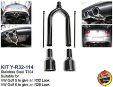 Exhaust muffler for ALL VW GOLF 5 6 to give an R32 R20 look with 114mm tips