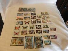 Lot of 32 Sharjah Stamps 1967, 1972 Disney, Space, Butterflies, Art