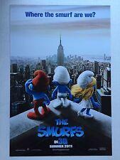 SMURFS Movie Poster - Advance Style Medium Size 11x17 Print ~ Smurfette Papa