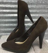 Colin Stuart Leather Suede Brown Classic Platform Pump Women's Size 8B