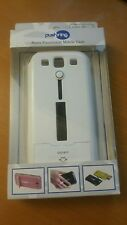 PushRing Samsung S3 S III Case Cover Protector Mobile White with Kick Stand NEW