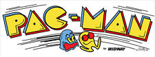 Pacman Reproduction Arcade Marquee Header