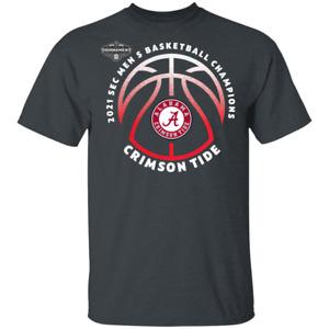 Men's Alabama Crimson Tide 2021 SEC Men's Basketball Conference T-Shirt S-5XL