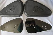 2 AJS metal mounting PLATES plus 2 PETROL fuel TANK rubber KNEE GRIPS kneegrips