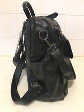 UTO Ladies Black PU Faux Leather 3 Way Zip Up Backpack Rucksack Bag Handbag