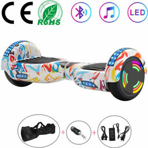 White boards 6,5 Electric Scooter Bluetooth 2 Wheels LED Balance skateboard