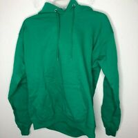 Hanes Men's Pullover EcoSmart Fleece Hooded Sweatshirt, Kelly Green, Medium