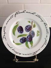 4 Williams Sonoma ORCHARD SUITE  Fruit Plates-Cherries, Pear, Plum, Peach