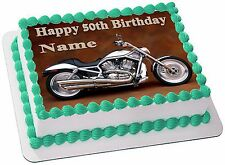 HARLEY  DAVIDSON  REAL EDIBLE ICING  CAKE TOPPER PARTY IMAGE FROSTING SHEET