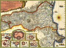 Reproduction carte ancienne - Roussillon 1706
