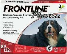 New listing Best Price New! Frontline Plus Flea + Tick Control 88-132lb X-Large Dog 3 Doses!