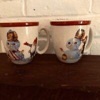 New Williams Sonoma Nordic Elf Set of 4 Mugs Plus Matching Spoons Christmas