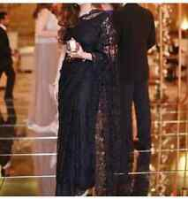Saree Blouse silk Indian Wedding wear bollywood lace net design party wear Sari