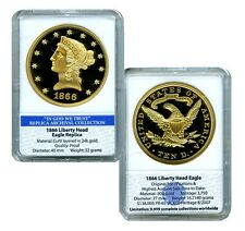 1866 LIBERTY HEAD EAGLE  ARCHIVAL COLLECTION  EDITION COIN PROOF VALUE $99.95
