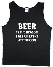 Mens Tank Top Drunk Beer T-shirt Sleeveless Muscle Tee Clothing Apparel