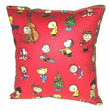 Peanut Gang Pillow Charlie Brown Gang Christmas Winter Fest Holiday Pillow USA