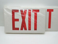 Universal Led Exit Sign Fixture Red Letters Battery Backup
