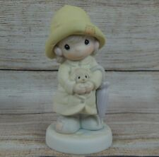 """""""An Event For All Seasons"""" Porcelain Figurine Precious Moments Girl & Puppy 1993"""