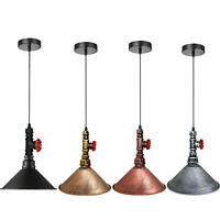 Industrial Retro Pendant Light Lamp Shade Suspended Ceiling Lights Style Metal