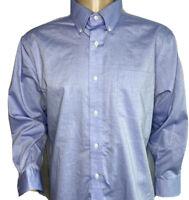 Lauren Ralph Lauren Shirt Non Iron Button Front Long Sleeve Blue Men Sz 17 32/33