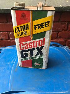Vintage Castrol Gtx Oil Can