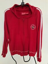 Vintage Coca Cola Logo Hoodie Red Full Zip Women Junior Large Size Gently Used