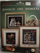 Peace On Earth Cross Stitch Pattern Booklet Stoney Creek RainDrop Christmas 1991