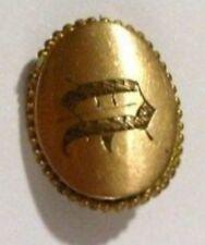 broche bijou vintage ancienne originale unique plaqué or monogramme A *4163
