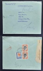 GUATEMALA to AUSTRIA 1923 Maya Monument + Architecture on Reg Cover to Graz LOOK