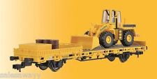 Kibri 26274 Low-Sided Wagon with Radlader Track Construction and Cargo,