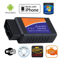 WiFi OBD2 ELM327 Car Scanner Android iOS iPhone Torque OBD-II Auto Scan Tool SS