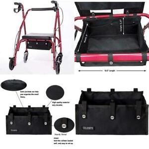 Rollator Walker Under Seat Bag Organizer Accessory Basket Pouch Medical Storage