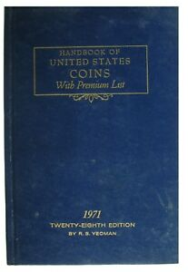 VINTAGE: 1971 BLUE BOOK - HANDBOOK OF UNITED STATES COINS