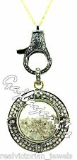 Lobster Lock & Round Shaker Necklace Incredibly Hand Crafted Rose Cut Diamond