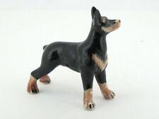 Dollhouse Miniatures Collectible Ceramic Doberman Pinscher dog FIGURINE