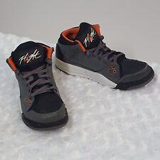 0d973eb8 Nike Flight Kids молодежные кроссовки серый оранжевый баскетбол с высоким  верхом, США, 2.5 ЕС, 34 (K)
