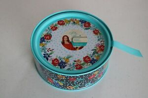 The Pioneer Woman Birthday Floral Round Container Treat/Favor Tin With Lid