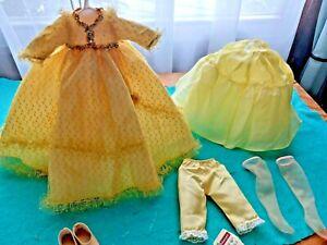 Vtg Alexander Doll YELLOW Dress/Crinoline/Bloomers/Nylons/Shoes Original
