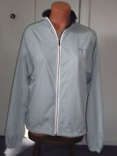 HIND ~ LIGHT BLUE/GRAY POLYESTER ATHLETIC ZIP FRONT WINDBREAKER JACKET ~ LARGE