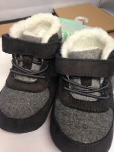 NWT Baby Boys' Surprize by Stride Rite Crispin Boots - Gray Small (6-12 months)