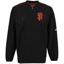 Majestic San Francisco Giants Black On Field Cool Base Training Half-Zip Jacket