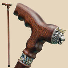 Luxury Lion Walking Stick Canes for Men - Fancy Stylish Wooden Cane Fashionable