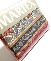 Martex Vintage NOS Discontinued Full Avignon Flat Sheet Bedding Percale Rare Red