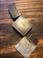 Working WWII Black Crackle PARK SHERMAN trench LIGHTER military WW2 1940s
