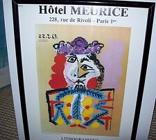 "Exhibition Poster ""Lithographies"" Leger Miro Dali Picasso Magritte Braque 1987"