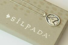 "Silpada Horse Head Equestrian Oxidized Sterling Silver 18"" Long Necklace N2028"