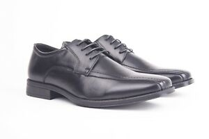 Mens Gents Real Leather Upper Smart Formal Lace Up Oxford Square Toe Shoes Size