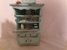 Miniature Dollhouse Furniture lot Shabby Chic Bakers Rack Kitchen Shelf